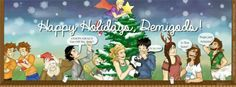 Merry Christmas demigods!!! And Octavian in the background.... when you see him.... NOOOO OCTAVIAN YOU ROMAN SCUM NOOOOOOOOO