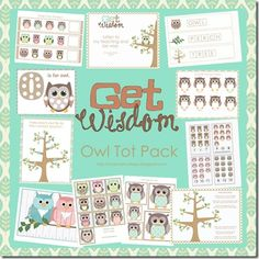 Owl Tot Pack and Letter O Activities Owl Preschool, Preschool Printables, Free Printables, Preschool Music, Kindergarten Classroom, Owl Theme Classroom, Classroom Ideas, Classroom Teacher, Classroom Resources