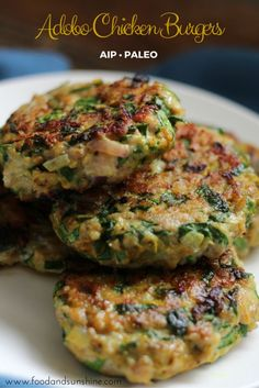 Adobo Chicken Burgers (AIP, Paleo, GF) would make perfect breakfasts!