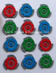 Fondant Cupcake Toppers - BeyBlade