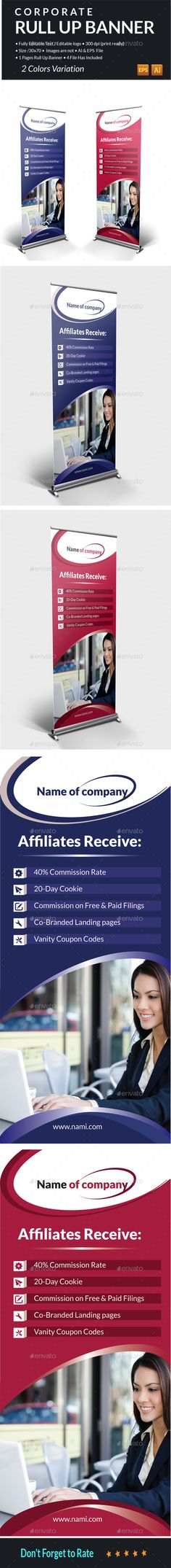 Corporate RulUp Banner #template #elegant Download : https://graphicriver.net/item/corporate-rulup-banner/14428923?ref=pxcr
