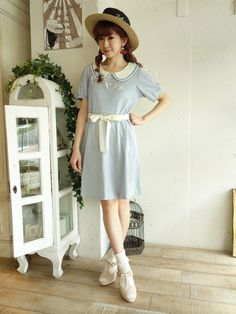 {Free Ship} Mori Girl Dolly Collar Cotton Dress · HIMI'Store · Online Store Powered by Storenvy