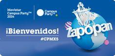 """Campus Party México 2014 """"#CPMX5"""" dió inicio este martes 24 de junio."""