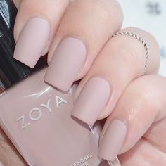 Check out our gallery for more swatches and inspirational photos! Zoya Nail Polish Avery - Looking for Hair Extensions to refresh your hair look instantly? Nude Nails, Matte Nails, Acrylic Nails, My Nails, Coffin Nails, Long Gel Nails, Pink Manicure, Neutral Nails, Matte Lipsticks