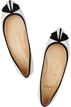 Christian Louboutin Balinodono patent-leather ballet flats