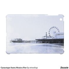 Cyanotype Santa Monica Pier iPad Mini Cover