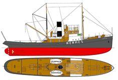 Hermes Steam tugboat plans