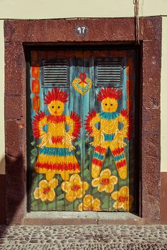 Door, Rua de Santa Maria N. 97, Funchal, Madeira, Portugal, by Maria Jaime de Freitas (photo by by Dmitri Korobtsov)