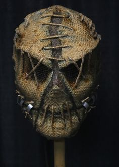 03c Scarecrow Mask, Halloween Scarecrow, Creepy Halloween, Halloween Masks, Creepy Masks, Cool Masks, Arte Horror, Horror Art, Monster Mask