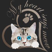 Mein Herz sagt miau Katze Kätzchen Geschenk | Seedshirt Süßes Baby Kätzchen, Katze guckt raus. Schönes Design für Katzenbesitzer, Katzen Freunde und Katzen Liebhaber. Schreib etwas dazu und erzeuge so ein persönliches Geschenk. Mein Herz sagt miau. Sonic The Hedgehog, Fictional Characters, Gifts For Cats, Baby Kitty, Nice Designs, Friends, Heart, Pictures, Fantasy Characters