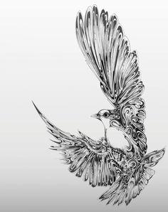 dove by simon scott. awesome tattoo idea