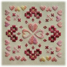 Hardanger embroidery Cross My Heart