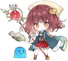 Atelier Sophie by KotatuBiyori on DeviantArt Cute Animal Drawings Kawaii, Kawaii Drawings, Cute Anime Chibi, Kawaii Anime Girl, Manga Anime, Anime Art, Skins Mini, Chibi Characters, Chibi Girl