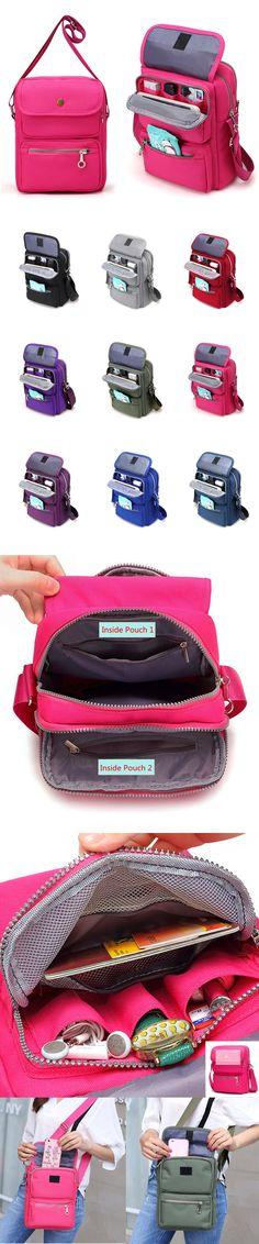 [$ 14.46]    Women Nylon Travel Passport Bag Crossbody Travel Bag Useful Shoulder Bag