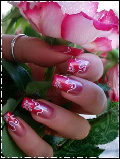 Using the colors, shapes and lines in nature to inspire a nail design