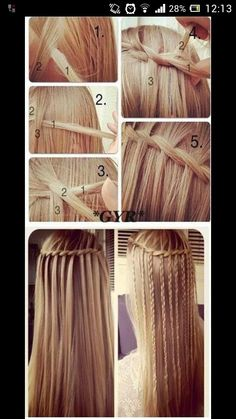 I like how the waterfall part is braided