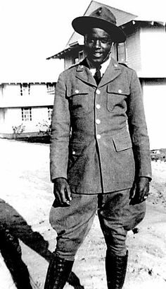 """Robinson served in the """"Black Panthers"""" 761st Tank Battalion during World War II but never saw combat. He was nearly court martialled for refusing to sit in the back of a bus."""