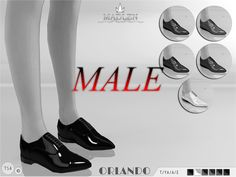 Madlen Orlando Shoes (Male) Found in TSR Category 'Sims 4 Shoes Male'