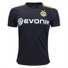 2017 Player Version Jersey Borussia Dortmund Away Black Shirt [BFC19]