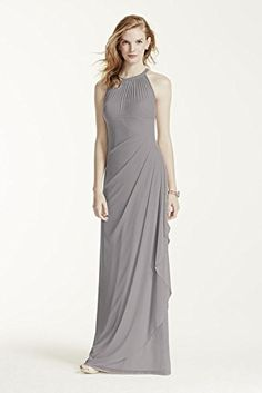 Long Mesh Bridesmaid Dress with Illusion Neckline Style F15662, Mercury, 14 David's Bridal http://www.amazon.com/dp/B00TJ6H4BY/ref=cm_sw_r_pi_dp_7-xPwb1CQ0N5H