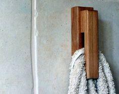 Wood towel rack, towel holder, amish style towel rack, minimalist towel holder, modern