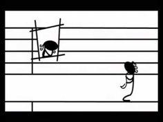 Animaatio nuottiviivastosta: Bolero.