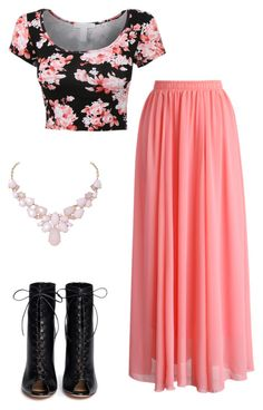 """""""Spring fling"""" by giselleing on Polyvore featuring Chicwish, Gianvito Rossi and Humble Chic"""