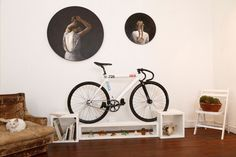 Furniture that double as bike racks are perfect for small apartments