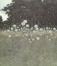 field with fluffy plumes, intaglio print, phil greenwood Art And Illustration, Gravure Illustration, Illustrations, Landscape Art, Landscape Paintings, Etching Prints, Japanese Art, Art Inspo, Painting & Drawing