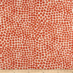 Genevieve Gorder Outdoor Puff Dotty Coral from @fabricdotcom