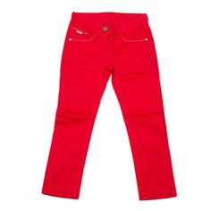 Bright red girls trousers