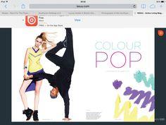 Good idea for bold colour clothing