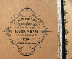 vintage style save the dates with old soap label look