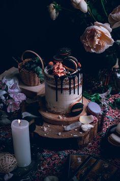 Vanilal bean cake with swiss meringue buttercream and chocolate glaze