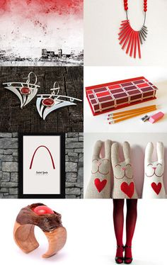 Lady in Red by Hagit Colb on Etsy--Pinned with TreasuryPin.com