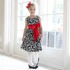 b1d4f1ab2ba Girls Black White Swirl Ava Sash Dress – Lolly Wolly Doodle Christmas 2015