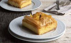 Greek Recipes, Raw Food Recipes, Galaktoboureko Recipe, Nutrition Chart, Phyllo Dough, Pastry Brushes, Processed Sugar, Good Fats, Custard