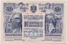 50 Kronen 1902 (Allegorische Darstellungen) Money Worksheets, Banner, Heart Of Europe, Central Europe, Hungary, Austria, History, Antiques, Banknote