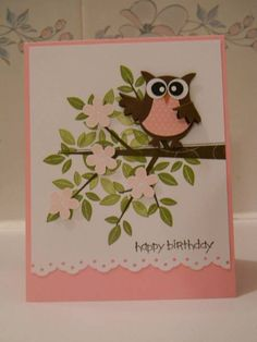 Pretty in pink, old olive &  choco. chip owl punch with season of friendship