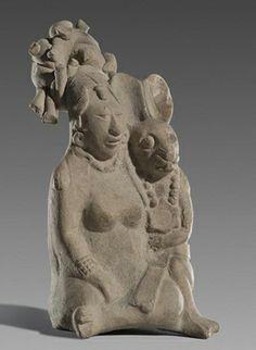 Ixchel (Mayan Goddess)  7th-8th century (Mexico), Height 13.3cm  Museum of Anthropology (Palacio Canton, Mexico)