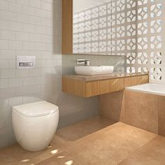 An in-wall toilet can save space in a smaller bathroom and there are plenty of button and pan options available to bring your dream bathroom to life! Geberit, for example, have heaps of colours and shapes in their button ranges making them extremely versatile!