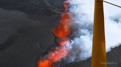 Flying over Holuhraun Eruption. Iceland