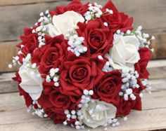 Wedding Flowers Wedding Bouquet Keepsake Bouquet - Makeup Tips Spring Wedding Bouquets, Red Bouquet Wedding, Prom Flowers, White Wedding Flowers, Bride Bouquets, Boquette Wedding, Wedding Dresses, Faux Flowers, Wedding Bridesmaids