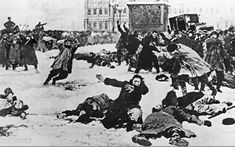 Bloody Sunday marked the beginning of the russian revolution when nicholas ll killed  hundreds of russians asking for better treatment