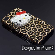 Hello Kittys 3D Rhinestone iPhone 4 Case Cover - Gold Leopardo  http://www.eiphoneaccessories.com/iphone-4/best-iphone-4-cases-apple-iphone-4-case/rhinestone-iphone-4-case/hello-kittys-3d-rhinestone-iphone-4-case-cover-gold-leopardo.html