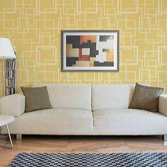 Allover Pattern Stencils | Hip to be Square Stencil | Royal Design Studio