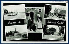 Groeten uit Huizen N.H. / Haven / Postkantoor / Huizen N.H. / Bejaardencent - In Oude Ansichten