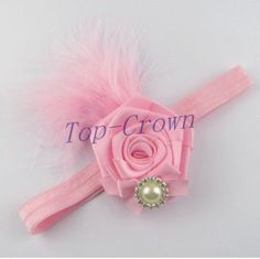 Baby Kid Girl Toddler Feather Hairband Headband Hair Accessories Pink b37-2 #unbranded