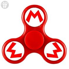 FUY-WG6 Fidget Spinner SUPER MARIO BROS Logo Tri-Spinner High Speed Spin - Perfect For ADD ADHD Anxiety and Autism Adult Children - Fidget spinner (*Amazon Partner-Link)