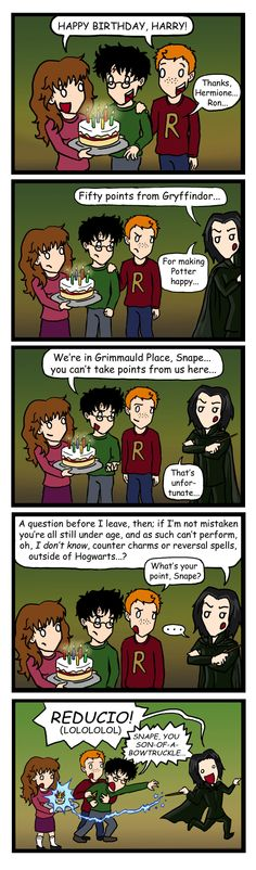 Snape's Revenge -- I think i laughed at this too much!
